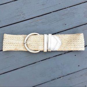 Express woven metallic high-wasted belt S